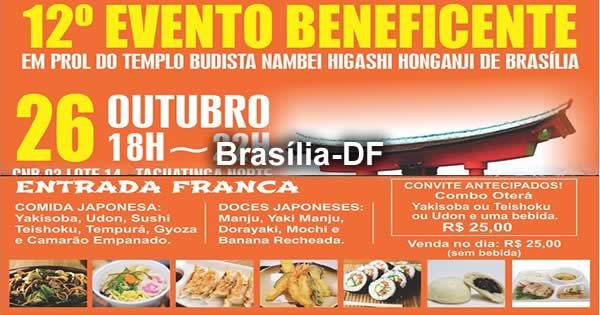 12° Evento Beneficente do Templo Budista de Taguatinga - 26/10/2019 - Brasília-DF