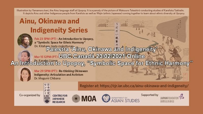 """Palestra 'Ainu, Okinawa and Indigeneity 